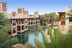 Distrito do turista de Madinat Jumeirah Fotografia de Stock Royalty Free