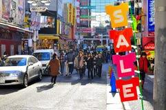 Distrito em Shibuya, Tokyo de Dogenzaka, Japão Fotos de Stock