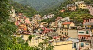 Distrito en Riomaggiore - Cinque Terre, Italia foto de archivo libre de regalías