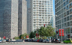 Distrito financeiro central Imagem de Stock