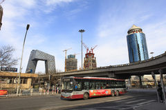 Distrito financeiro central do Pequim (CBD) Foto de Stock
