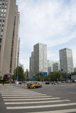 Distrito financeiro central do Pequim de Ásia, China, arquitetura moderna, construções muito-contado da cidade Foto de Stock