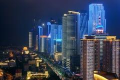 Distrito financeiro central em Qingdao, China fotografia de stock
