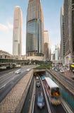 Distrito financeiro da central de Hong Kong Fotografia de Stock