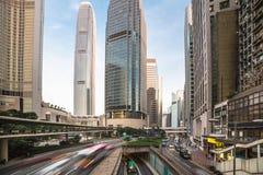Distrito financeiro da central de Hong Kong Fotos de Stock