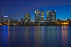 Distrito financeiro de Canary Wharf Imagem de Stock