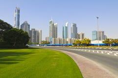 Distrito financeiro de Dubai, UAE Imagens de Stock