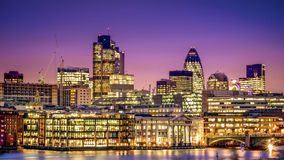 Distrito financeiro de Londres Fotografia de Stock Royalty Free