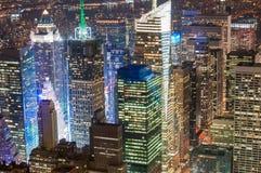 Distrito financeiro de New York City Imagem de Stock Royalty Free