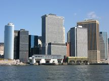 Distrito financeiro de New York City Imagens de Stock Royalty Free