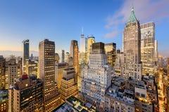 Distrito financeiro de New York City Fotografia de Stock