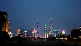 Distrito financeiro de Shanghai, lapso de tempo vídeos de arquivo