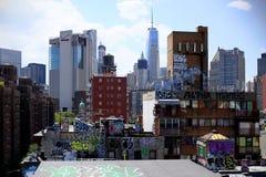 Distrito financeiro do bairro chinês de New York City imagens de stock royalty free