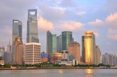 Distrito financeiro do Plutônio-dong de Shanghai, China Imagens de Stock Royalty Free