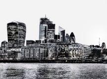 Distrito financeiro em Londres foto de stock