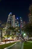 Distrito financeiro no lugar dos Raffles - Singapore Foto de Stock Royalty Free