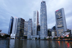 Distrito financeiro, Singapore Foto de Stock