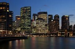 Distrito financeiro - Sydney Foto de Stock Royalty Free