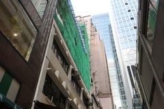 distrito financiero abajo de la central Hong Kong de la ciudad Fotos de archivo