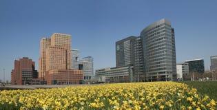Distrito financiero, Amsterdam Imágenes de archivo libres de regalías