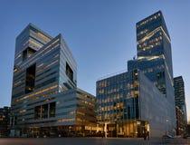 Distrito financiero Amsterdam de Zuidas Fotos de archivo