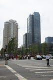 Distrito financiero central de Asia Pekín, China, arquitectura moderna, edificios mucho-famosos de la ciudad Imagen de archivo libre de regalías