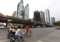 Distrito financiero central de Pekín (CBD) Imagen de archivo libre de regalías
