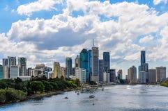 Distrito financiero central en Brisbane, Australia imagenes de archivo