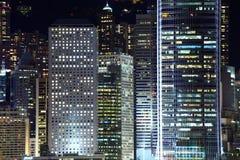 Distrito financiero central en Hong Kong Fotos de archivo