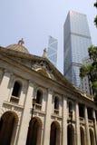Distrito financiero de la central de Hong-Kong Imágenes de archivo libres de regalías
