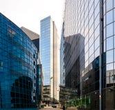 Distrito financiero de la ciudad Foto de archivo libre de regalías