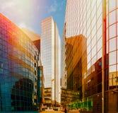 Distrito financiero de la ciudad Imágenes de archivo libres de regalías
