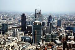 Distrito financiero de la ciudad de Londres Foto de archivo libre de regalías