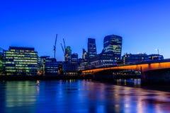 Distrito financiero de la ciudad de Londres Imagen de archivo
