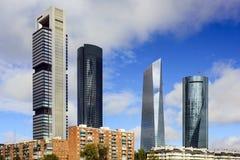 Distrito financiero de Madrid, España Foto de archivo libre de regalías