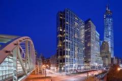 Distrito financiero de New York City Imagen de archivo libre de regalías