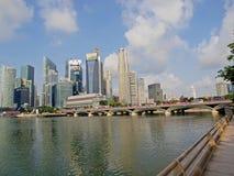 Distrito financiero de Singapur fotografía de archivo libre de regalías