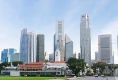 Distrito financiero de Singapur imagenes de archivo