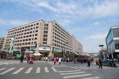 Distrito financiero en Hangzhou Imagen de archivo