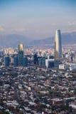 Distrito financiero en Santiago Fotografía de archivo