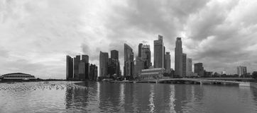 Distrito financiero en Singapur Foto de archivo
