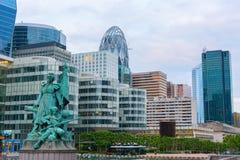 Distrito financiero parisiense Imagen de archivo