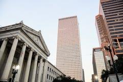 Distrito financiero, rascacielos y Gallier centrales Pasillo, nuevo Orl Fotos de archivo