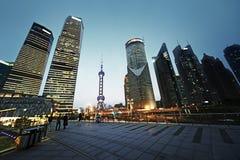 Distrito financiero Shangai, China de Pudong Fotografía de archivo