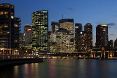 Distrito financiero - Sydney Foto de archivo libre de regalías
