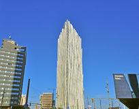 Distrito futurista de Barcelona Foto de archivo libre de regalías