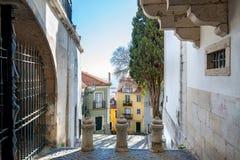 Distrito hermoso de Alfama en Lisboa, Portugal imagen de archivo