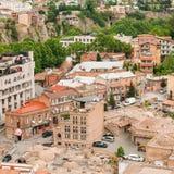 Distrito histórico Abanotubani - distrito del baño en la ciudad vieja de Tbilisi Fotos de archivo