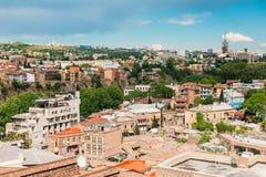 Distrito histórico Abanotubani - distrito del baño en la ciudad vieja de Tbilisi Imagenes de archivo