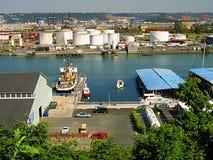 Distrito industrial Foto de Stock Royalty Free